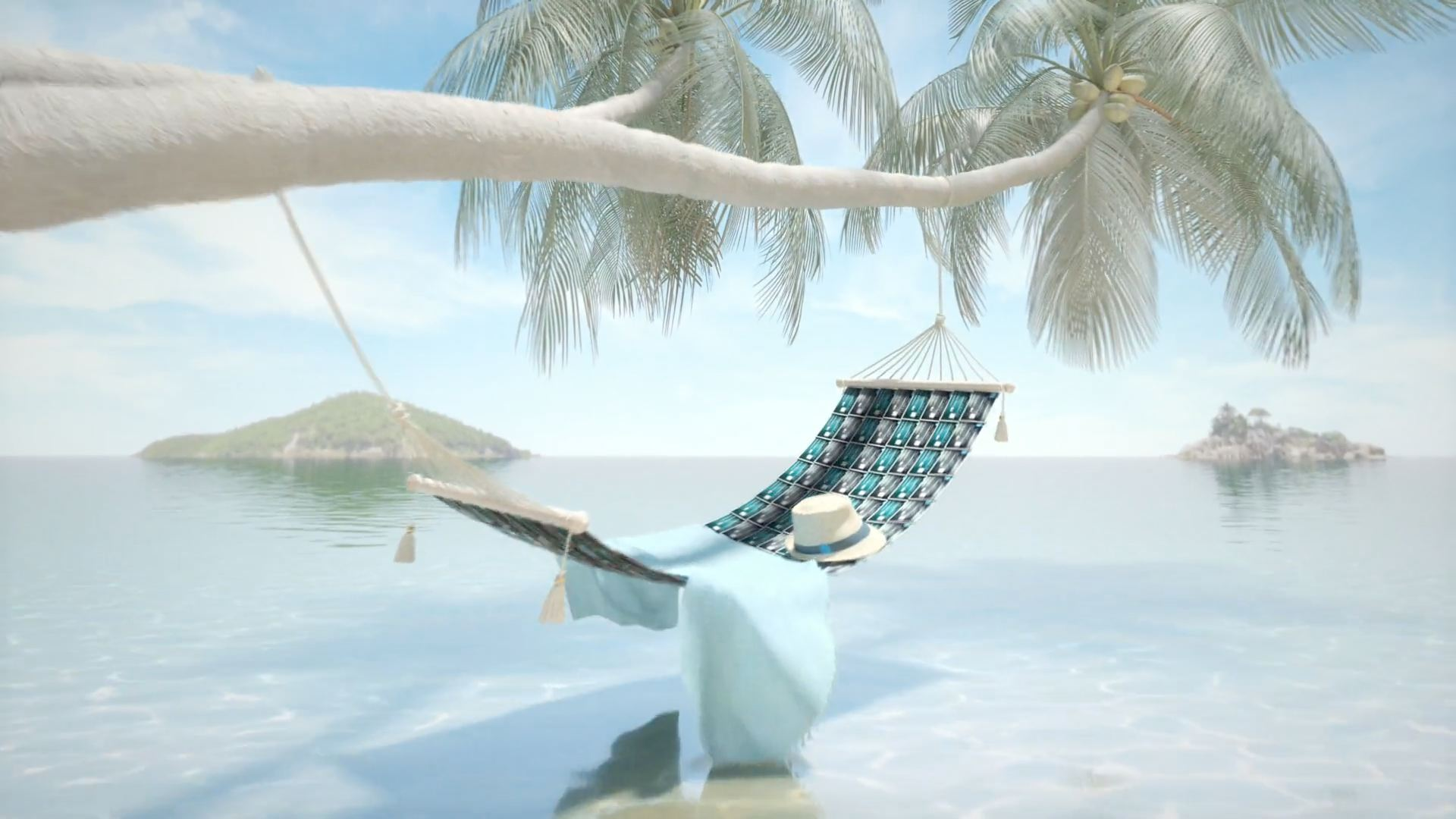 3D Animated Beach Scene