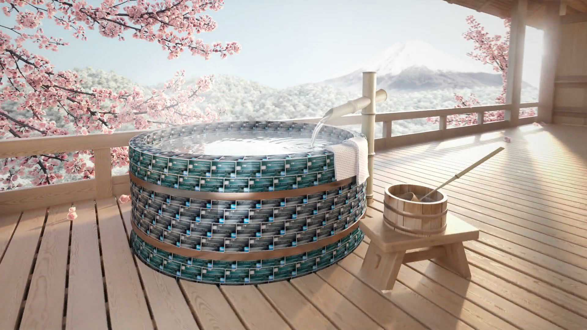 3D Animated Japanese Onsen