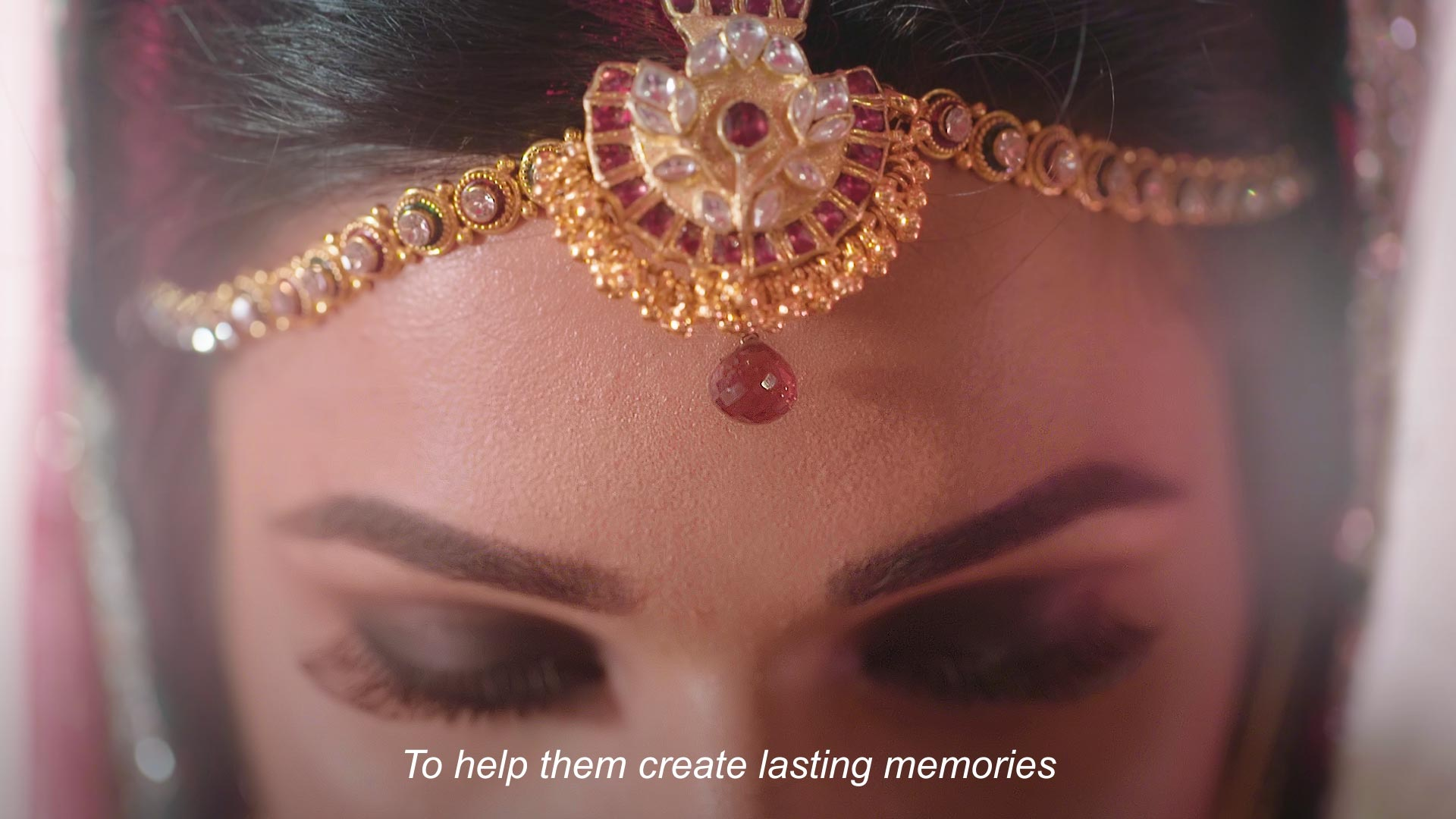 An Indian woman in a head dress
