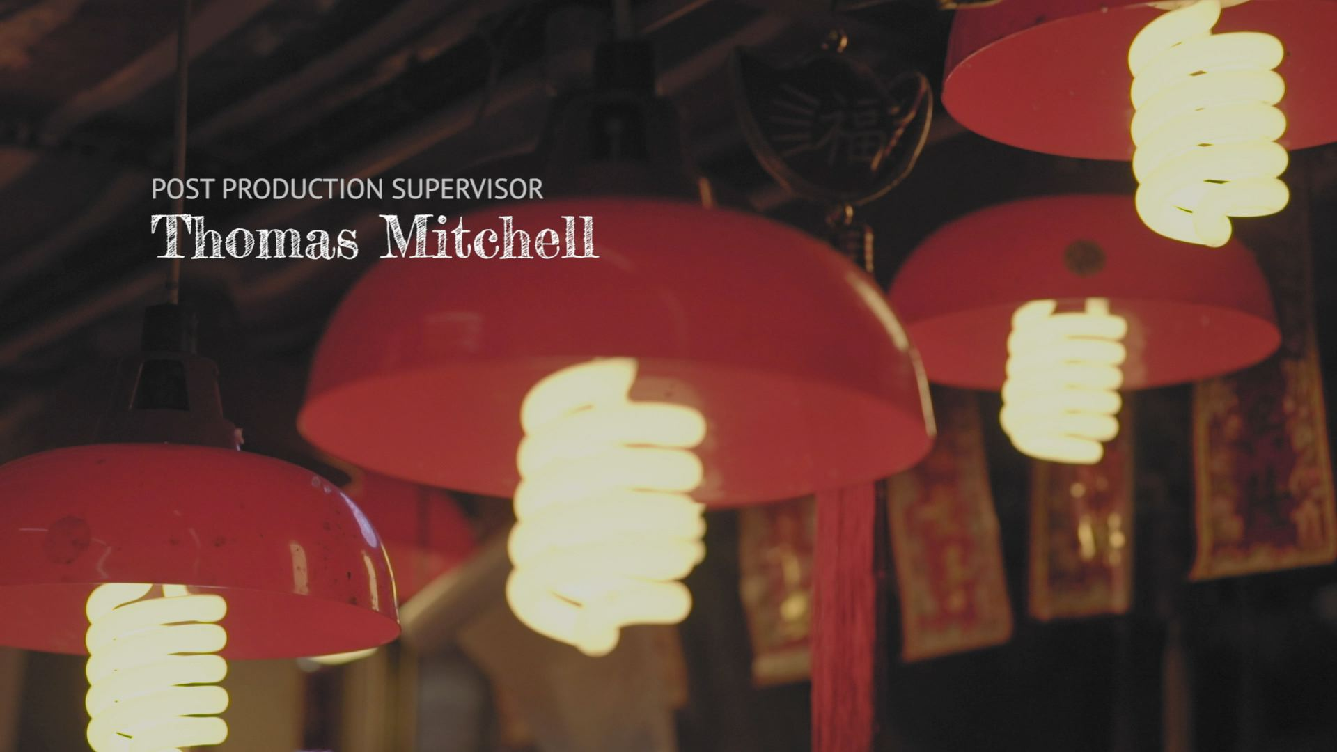 Opening titles scene with red lanterns