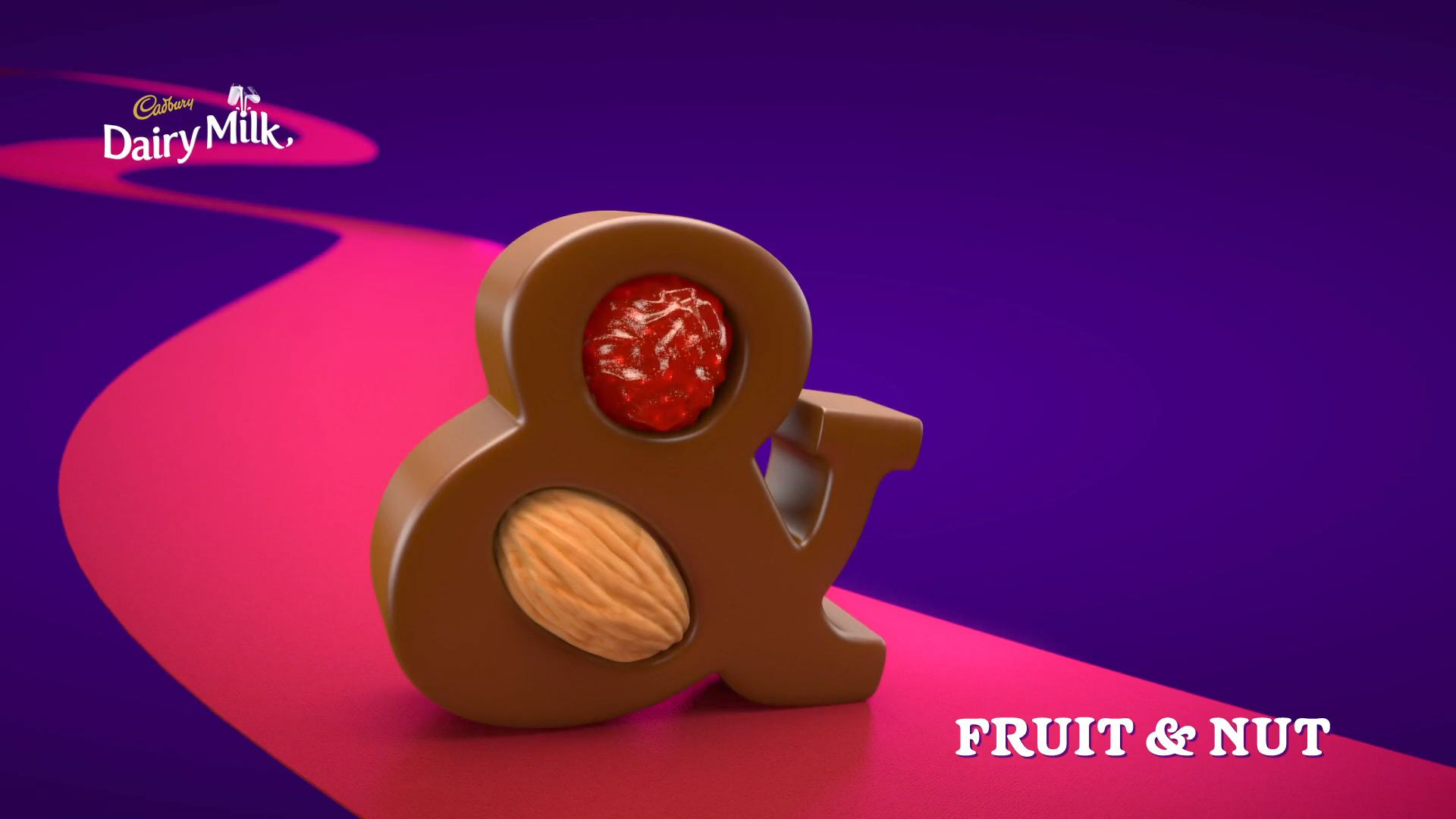 3D animated fruit and nut chocolate
