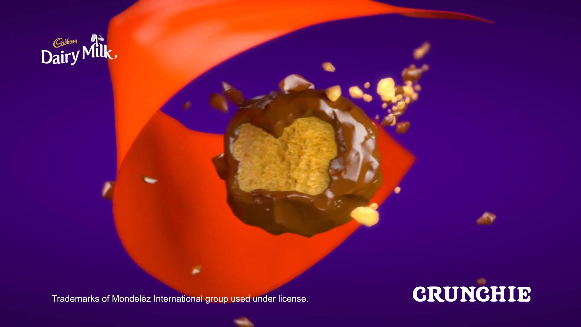 3D animated crunchie chocoalte
